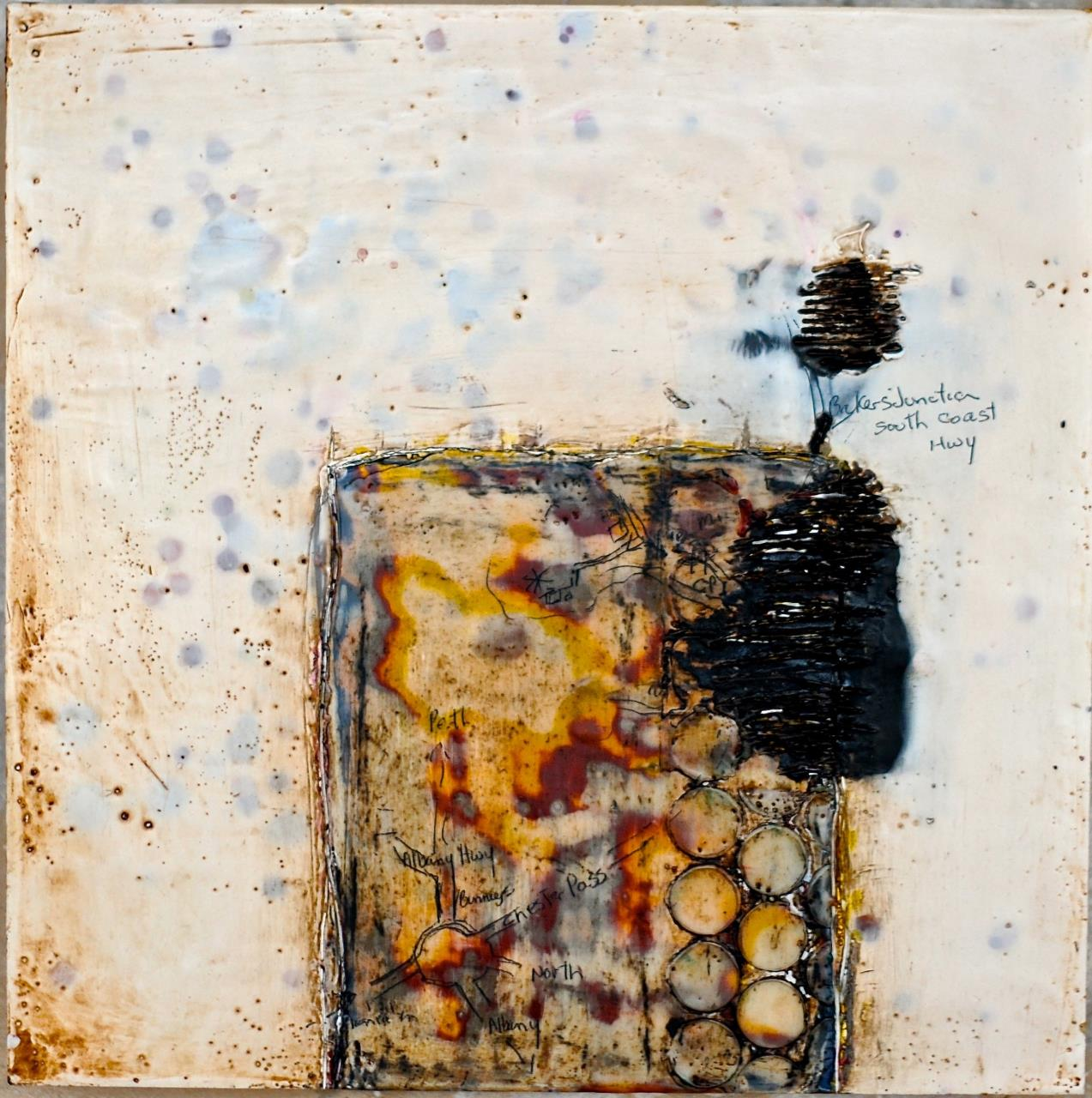 "2013 Outstanding Artwork - Patricia Baldwin Seggebruch  - ""Revelation"" - encaustic on canvas"
