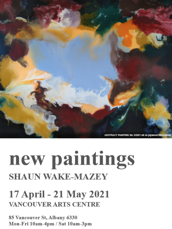new paintings Exhibition by Shaun Wake-Mazey